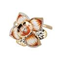 Кольцо, золото, фианиты, змаль. Ювелирная компания