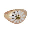 Кольцо, позолоченное серебро, фианит. Ювелирная компания