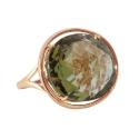 Кольцо, золото, ситал - султанит. Ювелирная компания