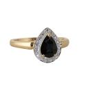 """Кольцо, золото, бриллианты, сапфир. Ювелирная компания """"МАБЭ""""."""