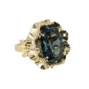 """Кольцо, золото, бриллианты, лондон топаз. Ювелирная компания """"МАБЭ""""."""