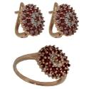 Золото комплект бриллианты рубин Ювелирная компания МАБЭ