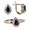 Золото комплект бриллианты сапфиры Ювелирная компания МАБЭ