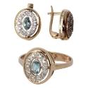 Золото комплект бриллианты топаз Ювелирная компания МАБЭ
