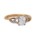 Золото кольцо горный хрусталь фианиты Ювелирная компания МАБЭ