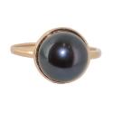 Золото кольцо  черный жемчуг Ювелирная компания МАБЭ