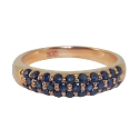 Золото кольцо  сапфиры  Ювелирная компания МАБЭ