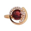 Золото кольцо  гранат с фианитами Ювелирная компания МАБЭ