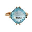 Золото кольцо  голубой топаз Ювелирная компания МАБЭ