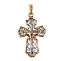 Золото и белое золото подвеска крест.  Ювелирная компания МАБЭ