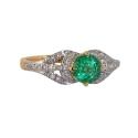 Золото кольцо   изумруд, бриллианты  Ювелирная компания МАБЭ