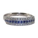 Белое золото, кольцо, сапфиры, бриллианты  Ювелирная компания МАБЭ