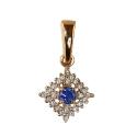 Золото подвеска бриллианты и сапфир.  Ювелирная компания МАБЭ
