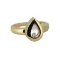 Кольцо, лимонное золото, фианит. Ювелирная компания