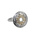 Кольцо-перстень, серебро, позолоченное серебро, фианиты. Ювелирная компания