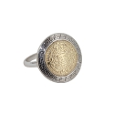 Кольцо-перстень, серебро, позолоченное серебро. Ювелирная компания