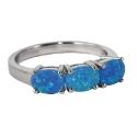 Кольцо  серебро, голубой опал.  Ювелирная компания