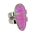 Кольцо  серебро, розовый опал.  Ювелирная компания