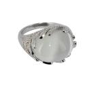 Кольцо  серебро, кошачий глаз.  Ювелирная компания