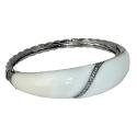 Кольцо  серебро, белый оникс, фианит.  Ювелирная компания
