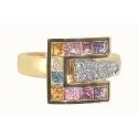 Кольцо  золото, топазы, бриллианты.  Ювелирная компания