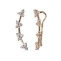 Серьги-прищепки золото,  фианиты.  Ювелирная компания