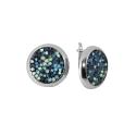 Серьги, серебро, цветные кристаллы SWAROVSKI  . Ювелирная компания