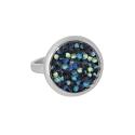 Кольцо, серебро, цветные кристаллы SWAROVSKI. Ювелирная компания