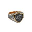 Перстень ,черненое и позолоченное серебро. Ювелирная компания
