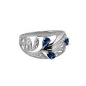 Кольцо, серебро, ситал-сапфир, фианиты. Ювелирная компания