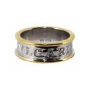 Кольцо  серебро, позолосенное серебро.  Ювелирная компания