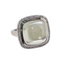 Кольцо, серебро, белый кварц, фианиты.  Ювелирная компания