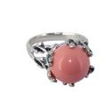 Кольцо, серебро, коралл.  Ювелирная компания