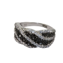 Кольцо  серебро, фианиты.  Ювелирная компания