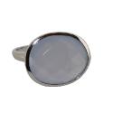 Кольцо, серебро, халцедон .  Ювелирная компания