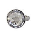 Кольцо, серебро,  горный хрусталь.  Ювелирная компания