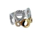 Кольцо   золото, белое золото, бриллианты.  Ювелирная компания
