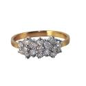 Кольцо, золото, белое золото, бриллианты.  Ювелирная компания