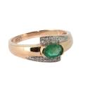 Кольцо  золото, изумруд, бриллианты.  Ювелирная компания