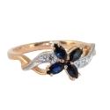 Кольцо  золото,  сапфиры, бриллианты.  Ювелирная компания