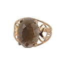 Кольцо  золото, дымчатый топаз.  Ювелирная компания