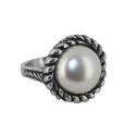 """Кольцо серебро, жемчуг Мабэ. Ювелирная компания """"МАБЭ""""."""