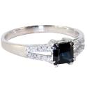 Белое золото кольцо с сапфиром. Ювелирная компания МАБЭ.