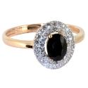 Золото кольцо бриллианты и сапфир.  Ювелирная компания МАБЭ