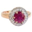 Золото кольцо рубин, бриллианты.  Ювелирная компания МАБЭ