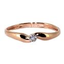 Золото кольцо фианит.  Ювелирная компания МАБЭ