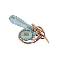 Кольцо, золото, голубой топаз, фианиты. Ювелирная компания