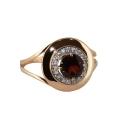 Кольцо, золото, гранат, фианиты. Ювелирная компания