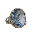 Кольцо, серебро, голубой кварц, фианиты. Ювелирная компания