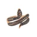 Кольцо, позолоченное серебро, фианиты. Ювелирная компания